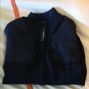 Orvis bomber jacket sweater